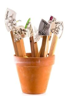 We could do something with all those broken plates at work!--broken plate garden markers and other fun markers
