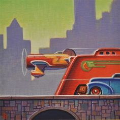 """Daily Paintworks - """"Big City"""" by Robert LaDuke"""