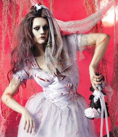 what im being for halloween :) Zombie Halloween Costumes, Cool Costumes, Adult Costumes, Halloween Ideas, Scary Photography, Dead Bride, Zombie Bride, Great Costume Ideas, Food Picks