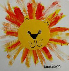lion - peinture/découpage/dessin