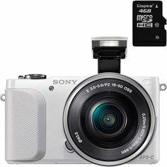 """La cámara Sony NEX-3NL con sensor Exmor APS HD CMOS de 16,1 megapíxeles te ofrece la fotografía de nivel profesional que buscas, con una velocidad de disparo fotográfico en ráfaga de hasta 4 fotos por segundo (fps), pantalla LCD de 3"""" desplegable 180° para fáciles autorretratos con conteo regresivo e indicación visual de 3 segundos, Flash incorporado y filmación de video en Full HD 60i. Cómpralo en nuestra tienda en línea:    Walmart.com.mx, Hacemos Clic!"""