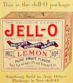 Vintage Ad for Jell-O gelatine