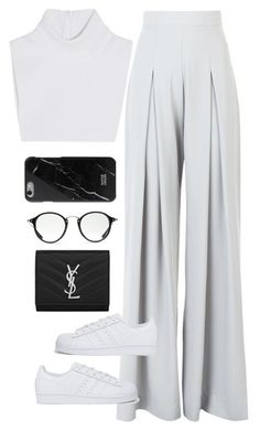 """Başlıksız #1256"" by zeynep-yagmur ❤ liked on Polyvore featuring AQ/AQ, Yves Saint Laurent, Ray-Ban, Michael Kors and adidas Originals"
