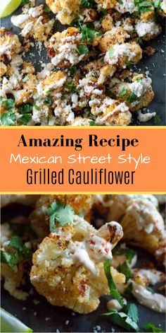 Mexican Street Style Grilled Cauliflower This starts, well, with a fresh head of cauliflower. Side Dish Recipes, Lunch Recipes, Mexican Food Recipes, Vegetarian Recipes, Cooking Recipes, Healthy Recipes, Easy Cooking, Side Dishes, Grilled Cauliflower