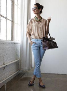 Eugenia Silva apuesta por un casual chic para un largo día de trabajo en NY. No te pierdas los detalles en su blog http://eugenia-silva.blogs.elle.es/2012/06/04/dia-de-trabajo-en-hudson-studios-en-ny/