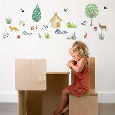 Art for Kids Kinder Wandaufkleber 'Wald' grün/bunt - im Fantasyroom Shop online…