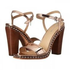 20% off COACH - Sandals Farrah Mirror-Metallic Leather Rose Gold - $235.99