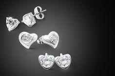 Choice of Swarovski Elements Heart Earrings
