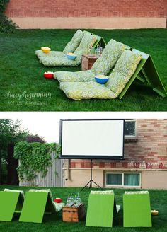 Easy DIY Outdoor Movie Theater Seats