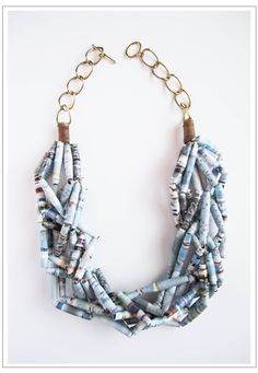Mine :) Paper bead necklace from my favorite Esty artist again - apinchoflovely.  Love this