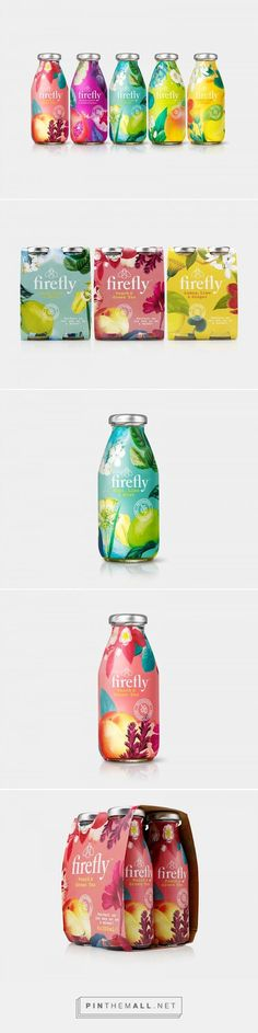 Firefly Tea Bottle Label Packaging Design