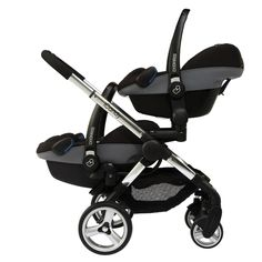 Peach Blossom Twin 2 - Twin Maxi-Cost Cabros or Pebbles (shown in image) with the addition of upper and lower car seat adaptors (optional extra).