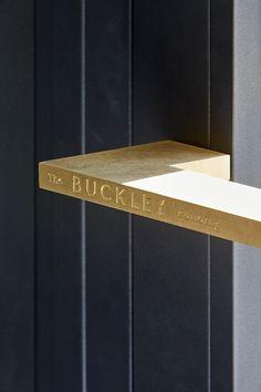 The Buckley Building - Brass door handle