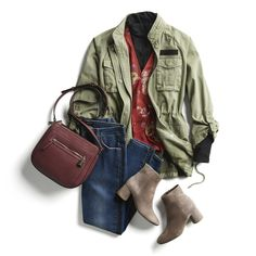 stitch fix love this outfit! i need UTILITY jacket but i haven't found one i like! love the boots and can't find similar ones :( Night Outfits, Fall Outfits, Casual Outfits, Cute Outfits, Casual Clothes, Work Outfits, Casual Wear, Dress Outfits, Stitch Fit