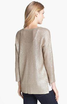 Halogen® Foiled Sweater - Nordstrom