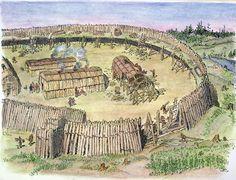 Haudenosaunee (Iroquois) village of Hochelaga, near present day Montreal