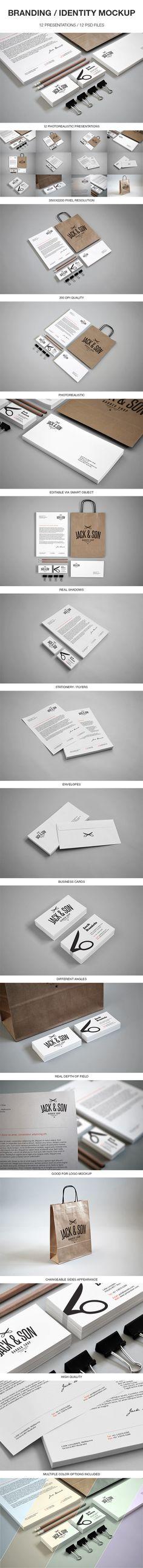 Branding / Identity Mockup by BlueMonkeyLab