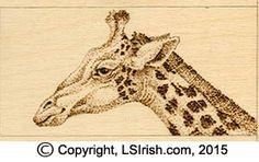 Pointillism Pyrography Giraffe Pattern