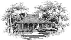 Farmhouse House Plan chp-4121 at COOLhouseplans.com
