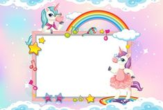Free Vector   Cute unicorn with blank banner Candy Background, Cartoon Background, Pastel Background, Background Patterns, Cute Rainbow Unicorn, Cute Unicorn, Rosas Vector, Floral Retro, Unicorn Wallpaper Cute
