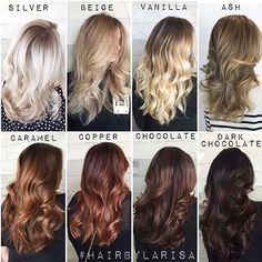One of our fave color charts of all time by Larisa Love #GivingCredit #modernsalon