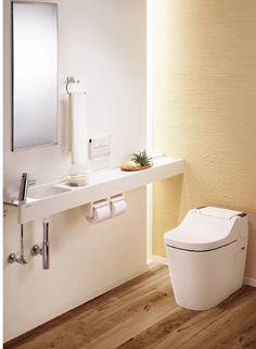 コーディネートNo.262288「」。10,000枚以上の美しい家の写真から好きな1枚を探そう。あなただけのお気に入りフォルダやまとめを作ってみませんか?会員登録は無料です! Bathroom Toilets, Washroom, Small Toilet Room, Japanese Bathroom, Restaurant Furniture, Japanese Interior, Home Interior Design, Ideal Home, Decoration