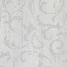 White twisted wood plank look wallpaper Walls Republic Geometric Fan Wallpaper, Look Wallpaper, Damask Wallpaper, Wallpaper Panels, Peel And Stick Wallpaper, Wall Wallpaper, Romantic Living Room, Peelable Wallpaper, Wood Lumber