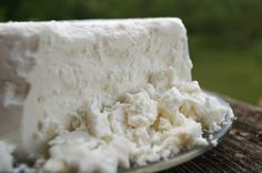 Homemade Feta Style Cheese #feta #cheese