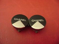 AUTH Chanel vintage CC logos 2 color simple clips earrings   Jewelry & Watches, Fashion Jewelry, Earrings   eBay!