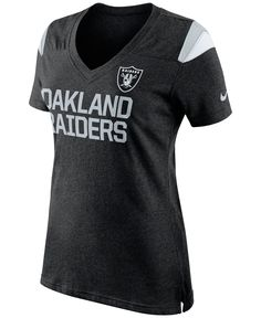 Womens Oakland Raiders Nike Gray Tri-Blend Helmet Tank Top