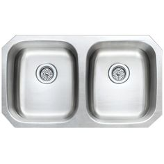 Winpro 32 x 18 x Undermount Extra Deep Double Bowl 18 Gauge 304 Stainless Steel Kitchen Sink Kitchen Sinks For Sale, Top Mount Kitchen Sink, Double Bowl Kitchen Sink, Kitchen Reno, Kitchen Ideas, Granite Fabricators, Solid Surface Countertops, Laminate Countertops, Granite Countertops