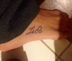 My Leo tattoo! #tattoo #leo #zodiac