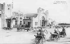 Harbin, Silk Road, Train Station, Taj Mahal, Street View, Building, Painting, Image, Chinese