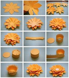 Creative DIY Paper Lotus Candlestick Project [Video Included] – Famous Last Words How To Make Paper Flowers, Paper Flowers Craft, Flower Crafts, Diy Flowers, Paper Crafts, Origami Flowers, 3d Paper, Lotus Candle Holder, Candle Holders