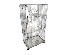 Cat Condo Cage Large Indoor Kitten Crates and Kennels 3-Tier Wire #IRISUSAInc