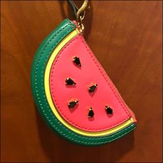 This Watermelon Purse Charm Pin-Up Hook is great cross merchandising from the Fitting Room Door, no matter what your original purchase intent. Watermelon Purse, Hooks, Bedroom Ideas, Pin Up, Coin Purse, Retail, Charmed, Wallet, Coin Purses