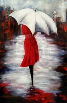 Excellent simple ideas for your inspiration Umbrella Painting, Umbrella Art, Acrylic Canvas, Canvas Art, Painting Inspiration, Art Pictures, Painting & Drawing, Watercolor Paintings, Art Drawings