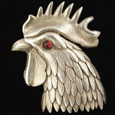 Trifari 'Alfred Philippe' Rooster's Head Pin Clip