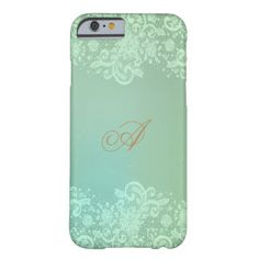 Vintage, Pastel Green Lace Barely There iPhone 6 Case