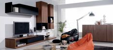 Oak Tv Unit, Large Tv Units, Large Tv Wall Unit, Entertainment Centers,  And Tv Unit Walnut - Modern Media Storage By The Designer