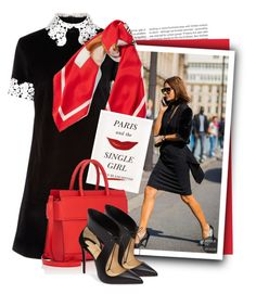 Black Velvet Opium Collared Dress by tasha1973 on Polyvore featuring polyvore fashion style macgraw Christian Louboutin Givenchy Moschino Kate Spade Oris clothing