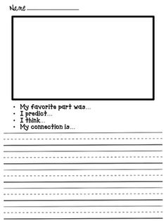 Free:  Primary Reading Response Sheets