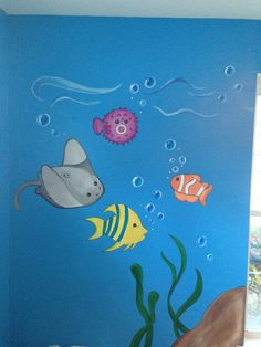 Under the Sea mural, I painted this for a daycare center~Sofi