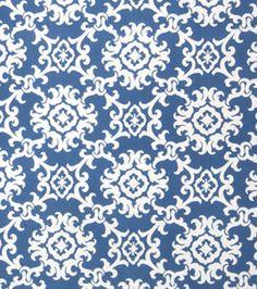 Joann Fabrics. # 11252210  Home Decor Print Fabric- Arvin Nautical Lattice