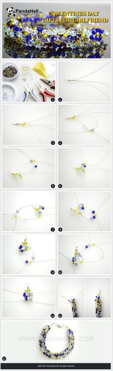 Jewelry Making Tutorial--How to DIY Elegant Crystal Bracelet in An Easy Way | PandaHall Beads Jewelry Blog