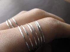 Skinny Stacking Ring $10.00
