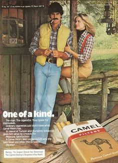 Cigarette advertising from the 1970s
