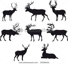 more deer silhouettes