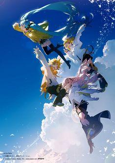 Hatsune Miku and Digimon Character Art, Character Design, Collaborative Art, Image Manga, Anime Poses, Anime Artwork, Anime Art Girl, Manga Girl, Anime Girls