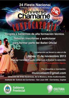LAS AUDICIONES SERAN EL LUNES: Convocan a selección para integrar el Ballet Oficial de la Fiesta del Chamamé #ArribaCorrientes